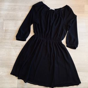Lush 3/4 Sleeve Fit and Flare Dress